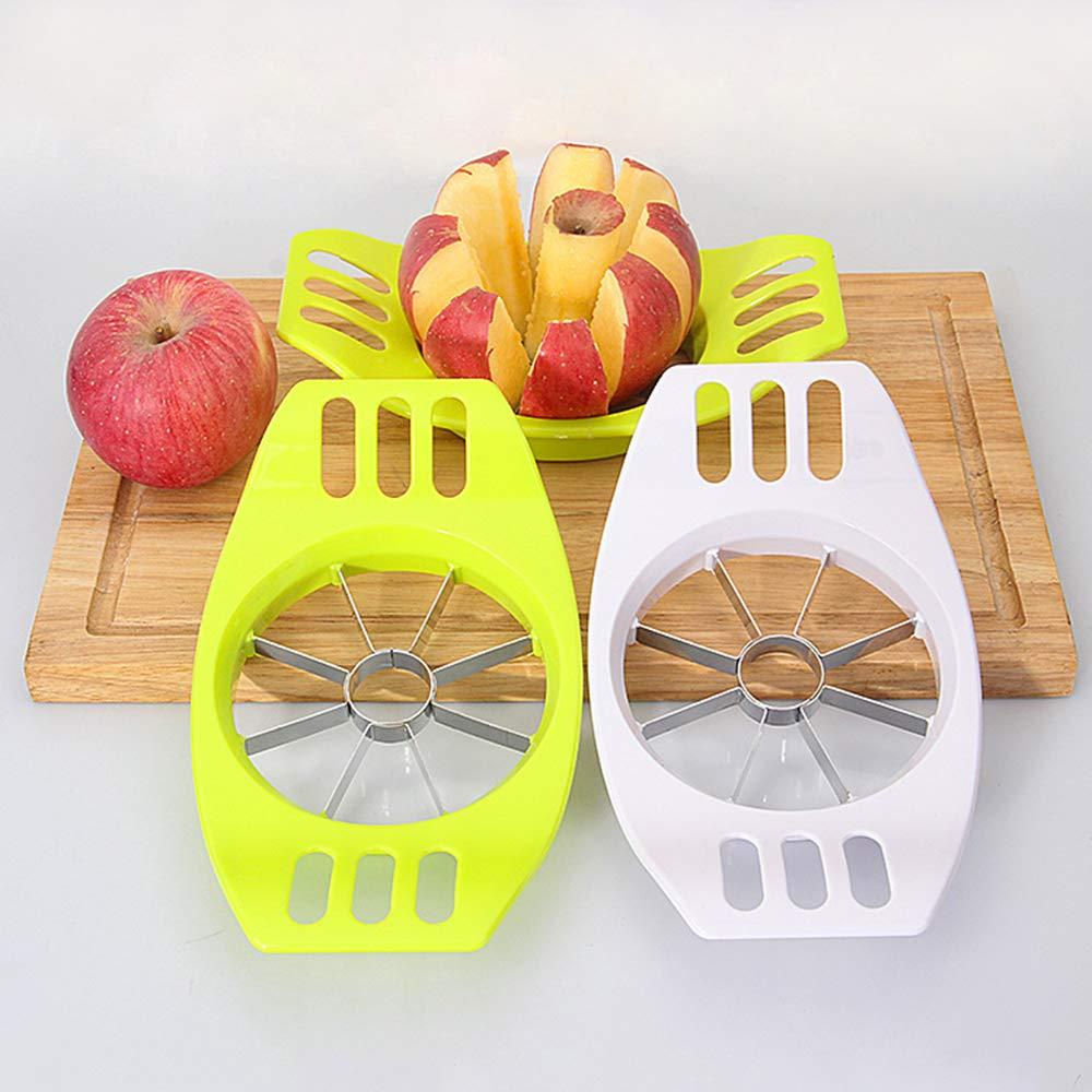 divisor de manzanas de acero inoxidable con mangos de pl/ástico EINFAGOOD Cortador de manzanas cortador de manzanas