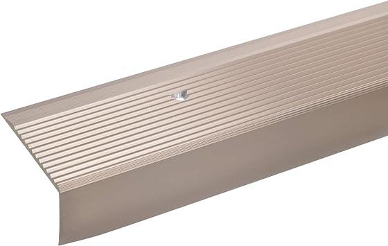100cm 52x30mm bronce claro * Antideslizante * Robusto * F/ácil instalaci/ón acerto 38090 Perfil angular de aluminio Perfil de pelda/ño perforado Perfil de pelda/ño perfil de pelda/ño de aluminio