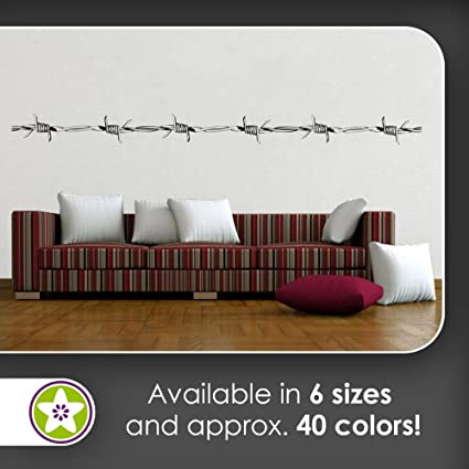 Amazon.com: KIWISTAR Barbed Wire Wall decals in 6 sizes - Wall ...