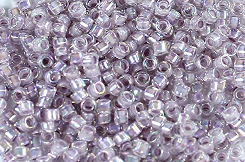 Toho Beads Treasure (11/0 TOHO Treasures Japanese Glass Seed Beads #786- Rainbow Crystal/Pale Lavender 5g)