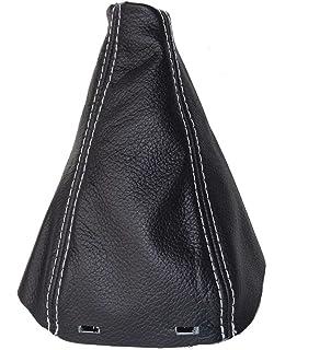 Manual Gear Cambio de polainas botas negro Cuero Italiano con gris de punto de