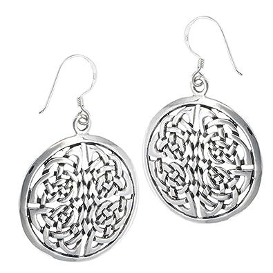 925 Sterling Silber Rund Groß Endless Keltischer Knoten baumeln ...