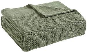 Fiesta Thermal Cotton Blanket, Full/Queen, Sage