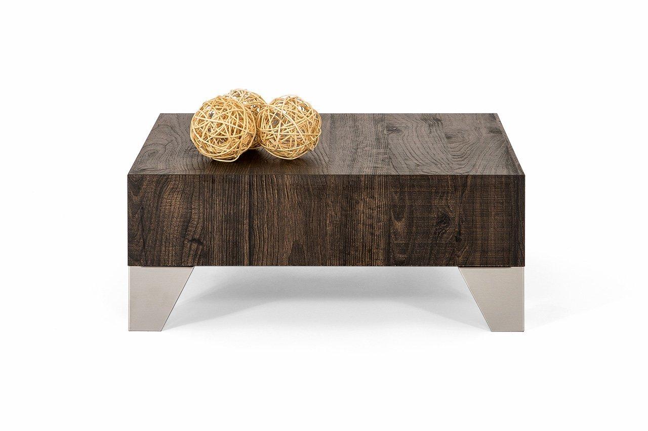 Mobili Fiver Evo 60 Couchtisch, Holz, Eiche braun, 60 x 60 x 24 cm