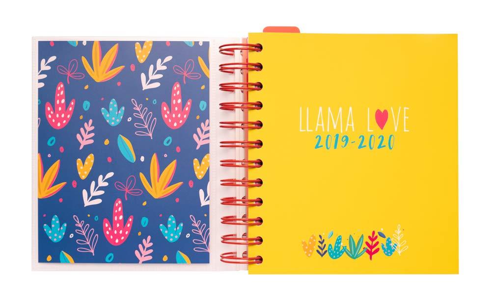 Agenda escolar 2019/2020 día página M Llama Lover