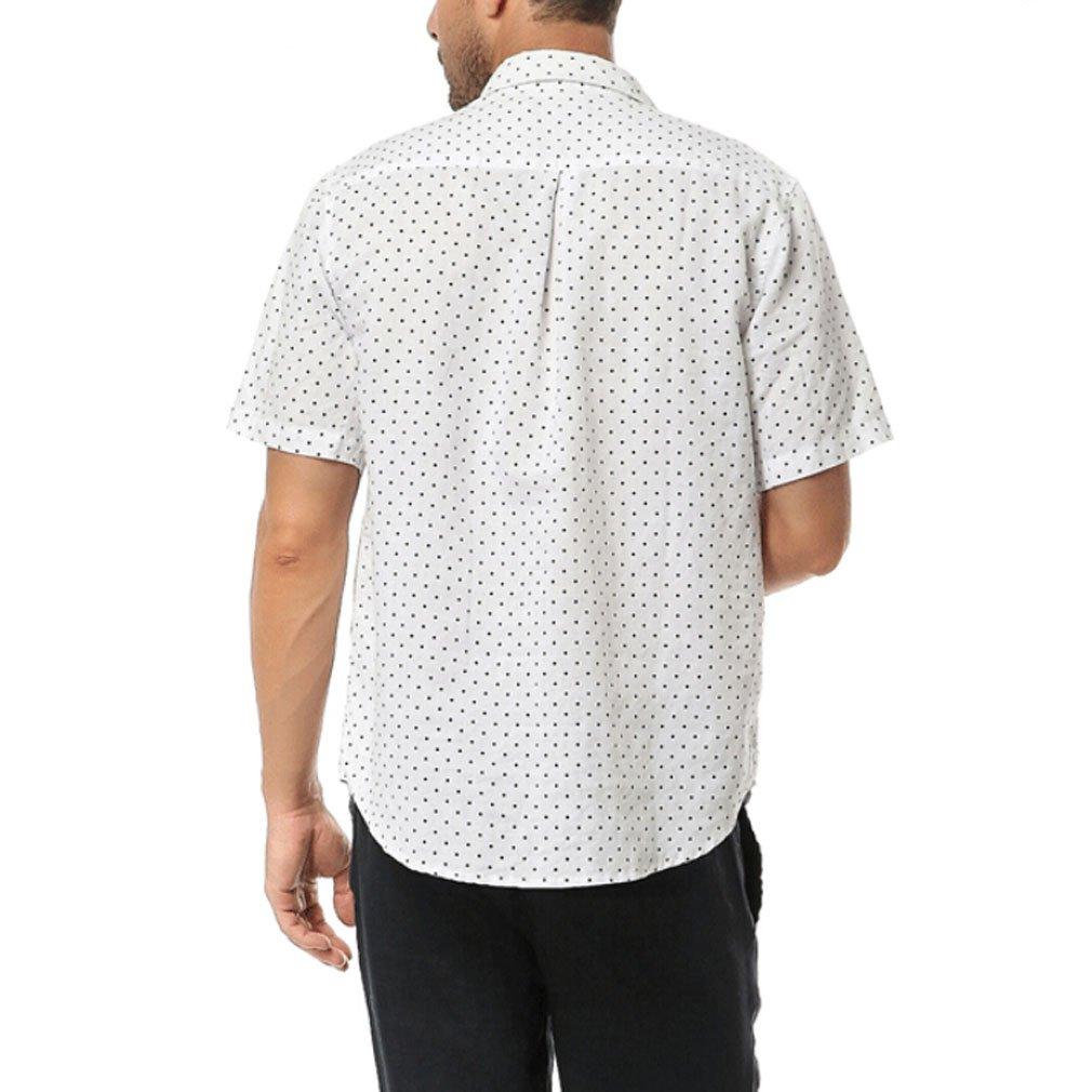 Najia Symbol Uomo Camicie 100/% Lino Manica Corta Casual ShowMen287