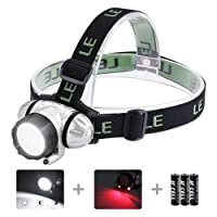 LE Headlamp Flashlight with 4 Lighting Modes