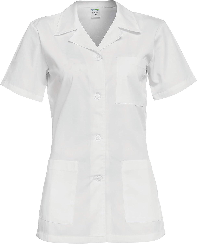 DINOZAVR Gabi Uniformi sanitarie Medico Casacca da Donna Camice da Medico con Bottoni