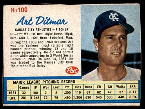 ab943c34a989e0 Amazon.com: Baseball MLB 1962 Cereal #100 Art Ditmar Excellent Athletics:  Collectibles & Fine Art