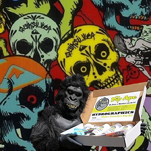 Ape Skate - Dip Ape Grinder Skulls Quicksilver Skate Boarding Hydrographic Water Transfer Hydro Dip Dipping Kit