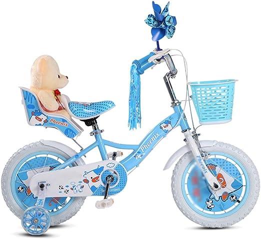 DT Moda Rosa Azul para niños Bicicleta de bebé de 3 años 2-4-6-7-8 ...