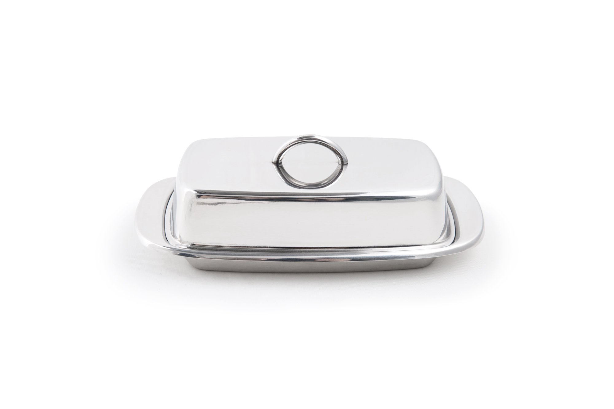 Fox Run 6510 Butter Dish with Lid, Stainless Steel