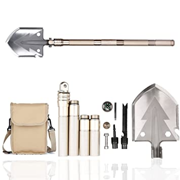 Amazon.com: Multitool Kit de supervivencia Pala, brújula ...