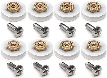 YUANQIAN - Rueda de ducha con ranura en V, 8 piezas, 19 mm de diámetro: Amazon.es: Bricolaje y herramientas