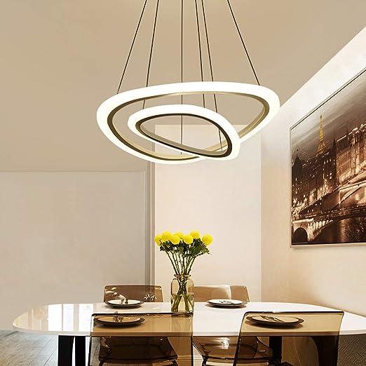 Lámpara colgante Redonda LED Lámpara de mesa moderna para comedor ...
