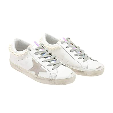 buy popular 208a2 ecb02 Golden Goose Deluxe Brand Superstar Pearl Necklace Women Sneakers  G32WS590.G36 Size 37 (7