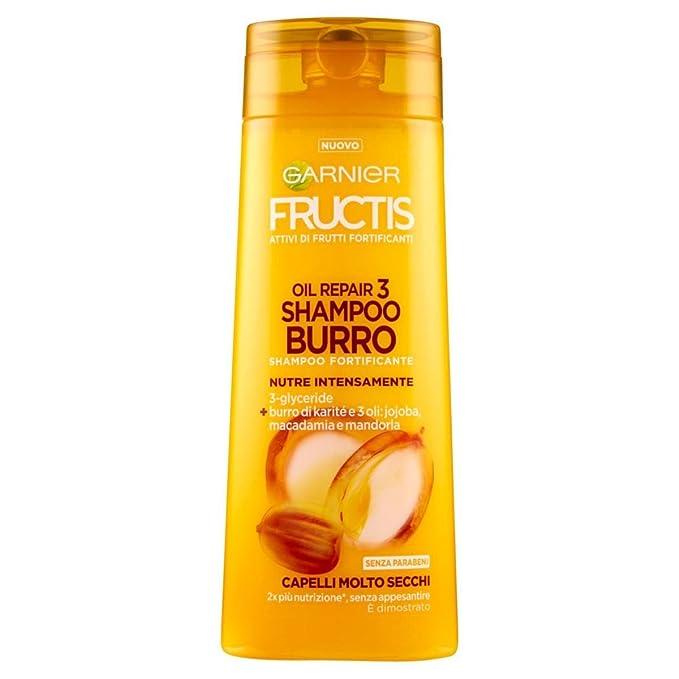 2 opinioni per Garnier Fructis Oil Repair 3 Shampoo Burro per Capelli Molto Secchi, 250 ml