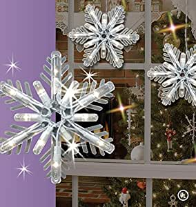Amazon Com Ge 8 Count Snowflake Random Sparkle Icicle