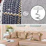 Floranea 50 Pcs Twist Pins Upholstery Clear Heads