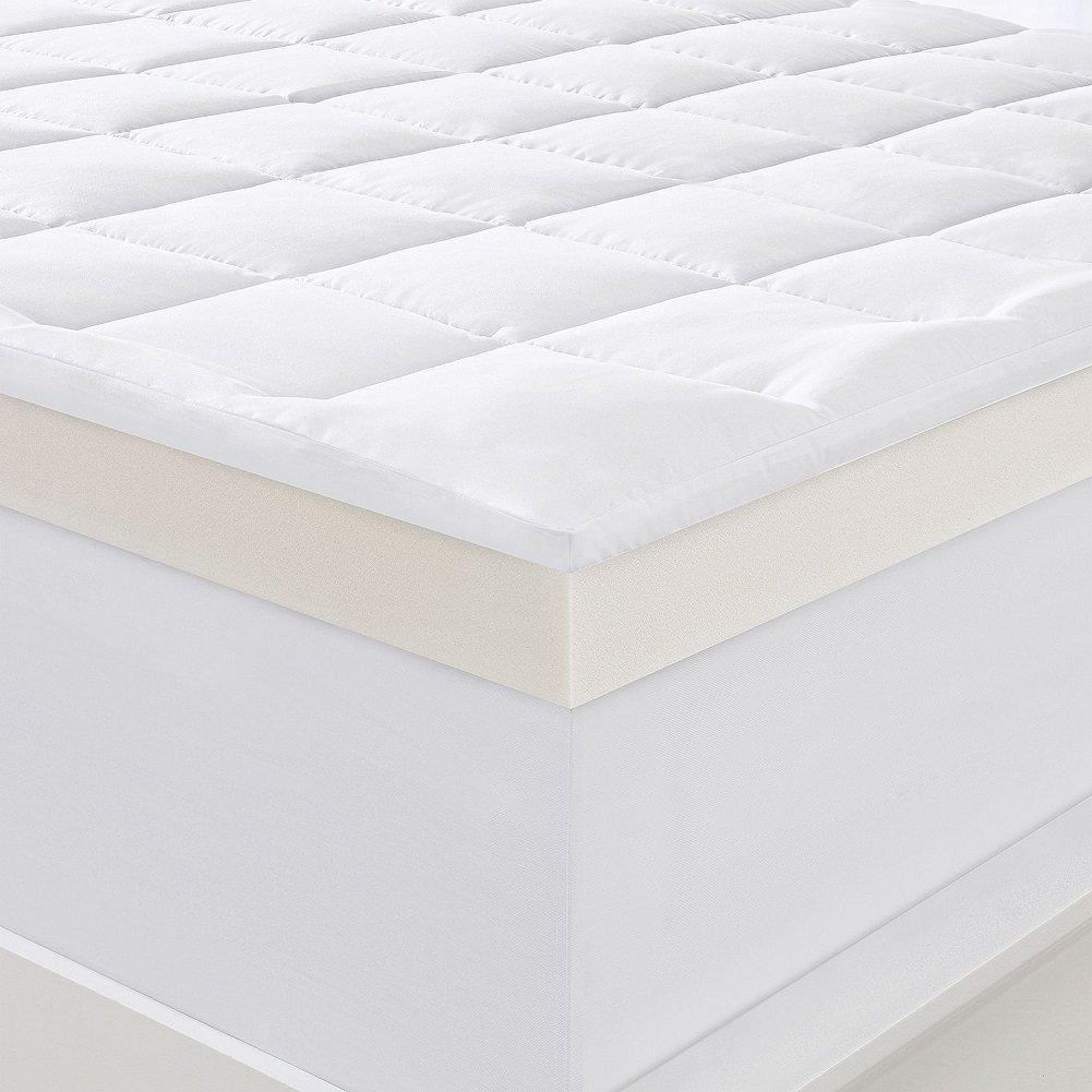 Almohada de 10,16 cm y colchón de espuma viscoelástica, tamaño King de Serta: Amazon.es: Hogar