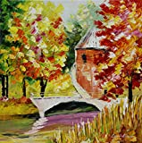 ***SUMMER SALE*** SMALL BRIDGE an ORIGINAL OIL PAINTING ON CANVAS by Leonid AFREMOV Picture