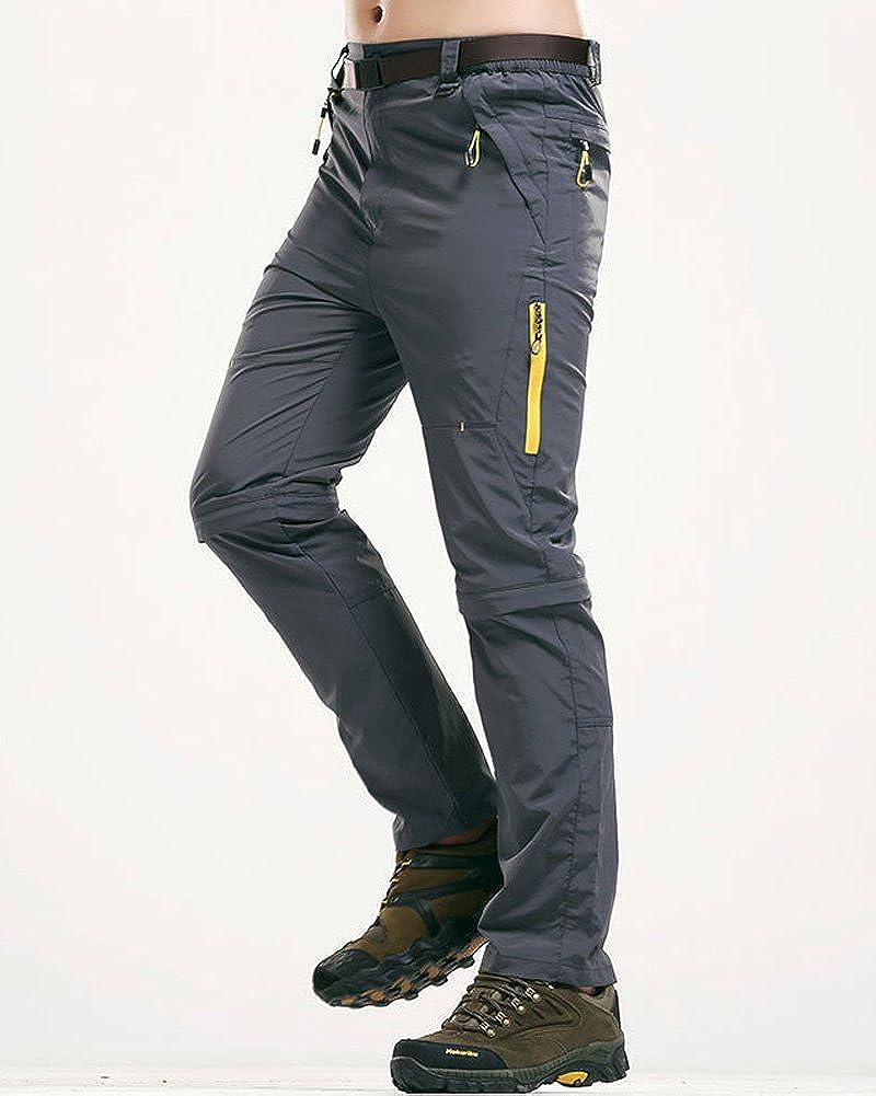 Tomwell Mens El/ástico de Secado r/ápido Impermeable Escalada Senderismo Pantalones de Monta/ña Trekking Running Walking Pantalones Pantalones Delgados Al Aire Libre A Gris EU Medium