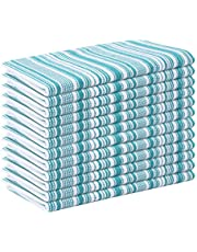 Cotton Dinner Napkins in Different Size and Color, Cotton, Teal, 18x18 Stripe Napkin