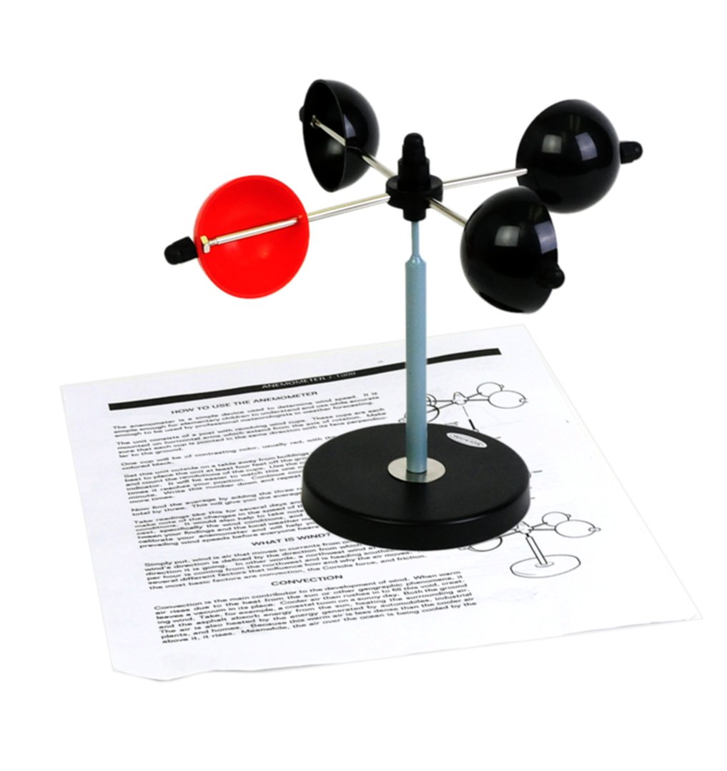 American Educational Corrosion-Resistant Cup Anemometer, with Revolving Wind Cups