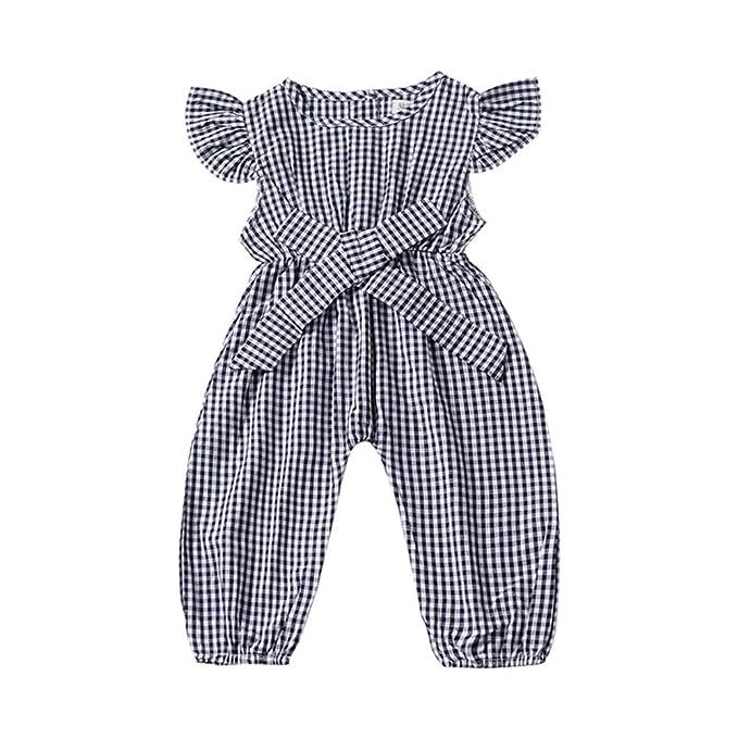 Autumn Kids Baby Girls Jumpsuit Romper Overalls Playsuit Long Pants Clothes