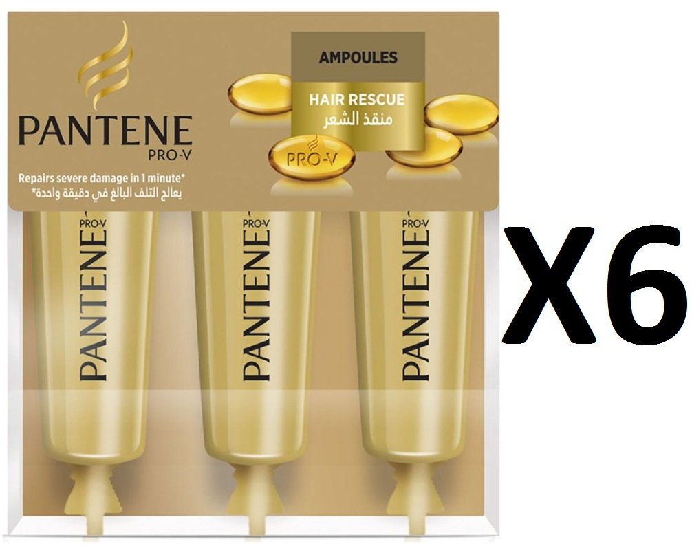 Pantene Pro-V Moisture Renewal Hair Rescue Ampoule 3x 15ml - Pack of 6