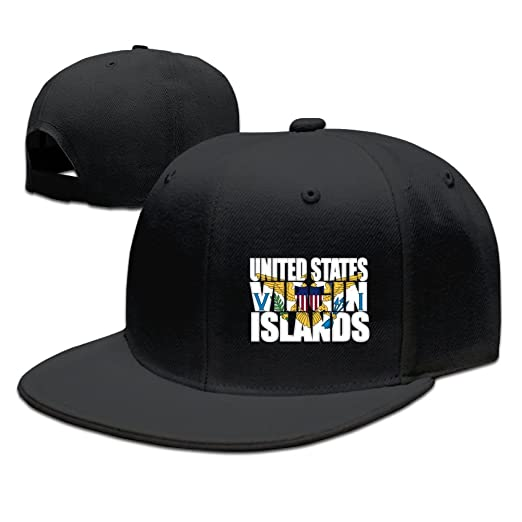 BDHESR Virgin Islands Snapback Hats For Men Funny Dancing Flat Bill Hats  Fitted Hats For Men 71308285004