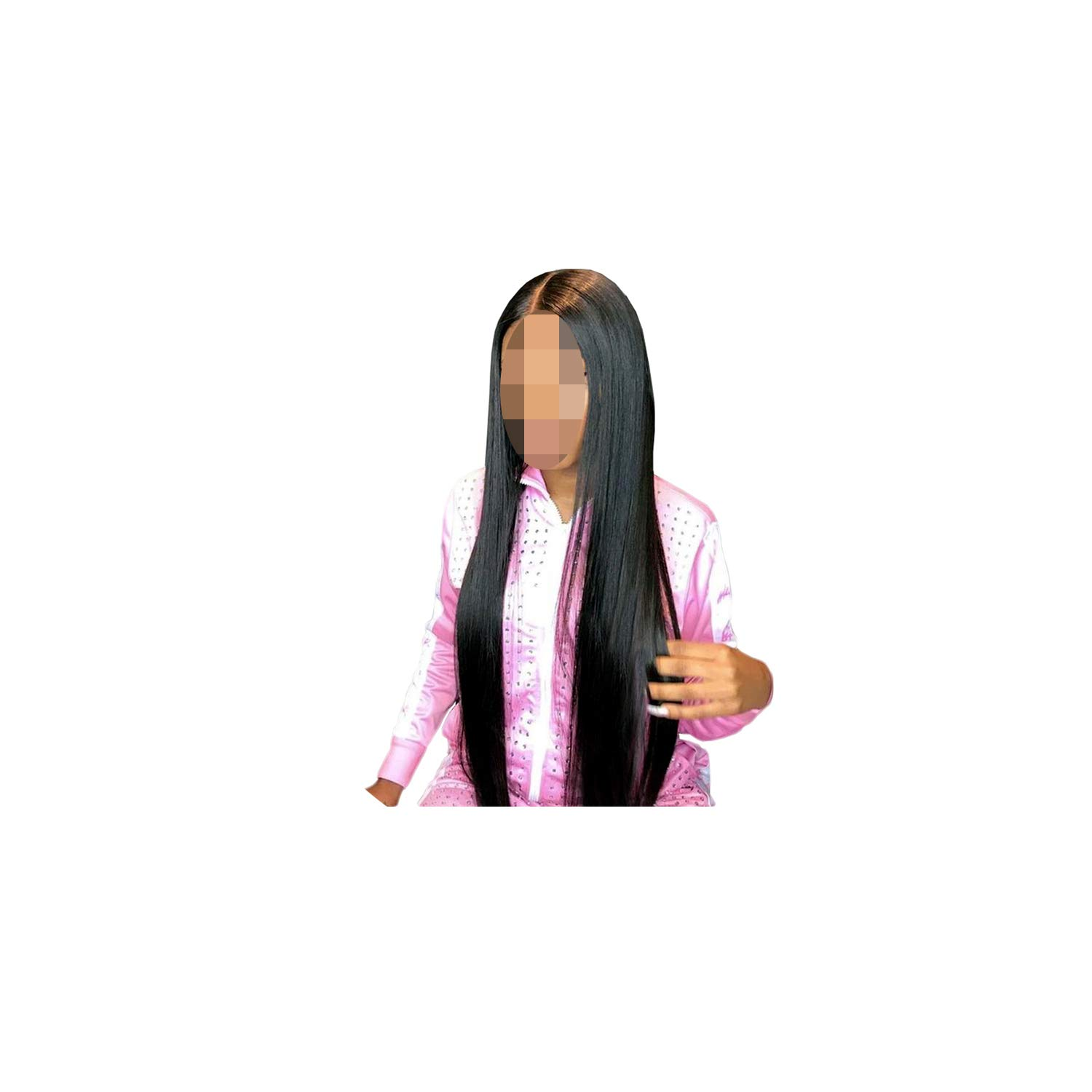 13x6 Lace Front Wig Remy Glueless Lace Front Human Hair Wigs Pre Plucked Brazilian Straight Lace Wig With Baby Hair,Natural Color,18inches,150 Density 13x6 Wig