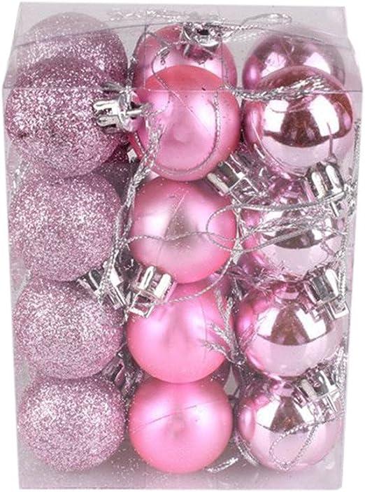 Glitter Balls Baubles Xmas Wedding Party Hanging Ornaments Decoration 24 Pcs