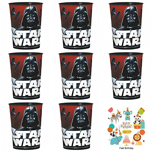 12 pack Star Wars Classic Darth Vader Plastic Favor Cups Birthday Party Supplies
