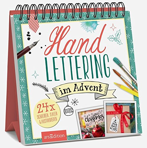 Handlettering im Advent: Adventskalender Kalender – 25. September 2018 arsEdition 3845826940 Weihnachten Advent / Geschenkband