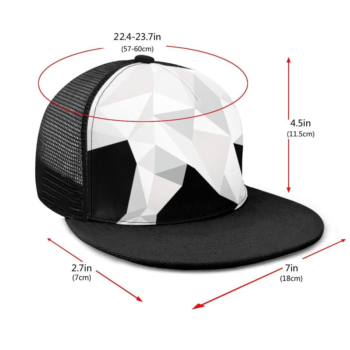 Boys and Girls 100/% Polyester White Polar Bear Baseball Cap Adjustable Trucker Mesh Cap for Unisex