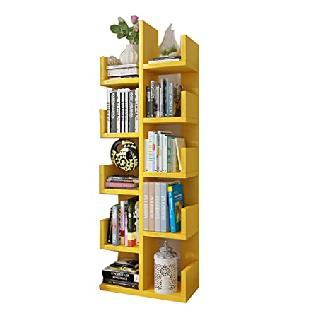 HAIZHEN Wall Storage Shelves 10 Tire Shelf Bookshelf Wood Bookcase Stand For Living
