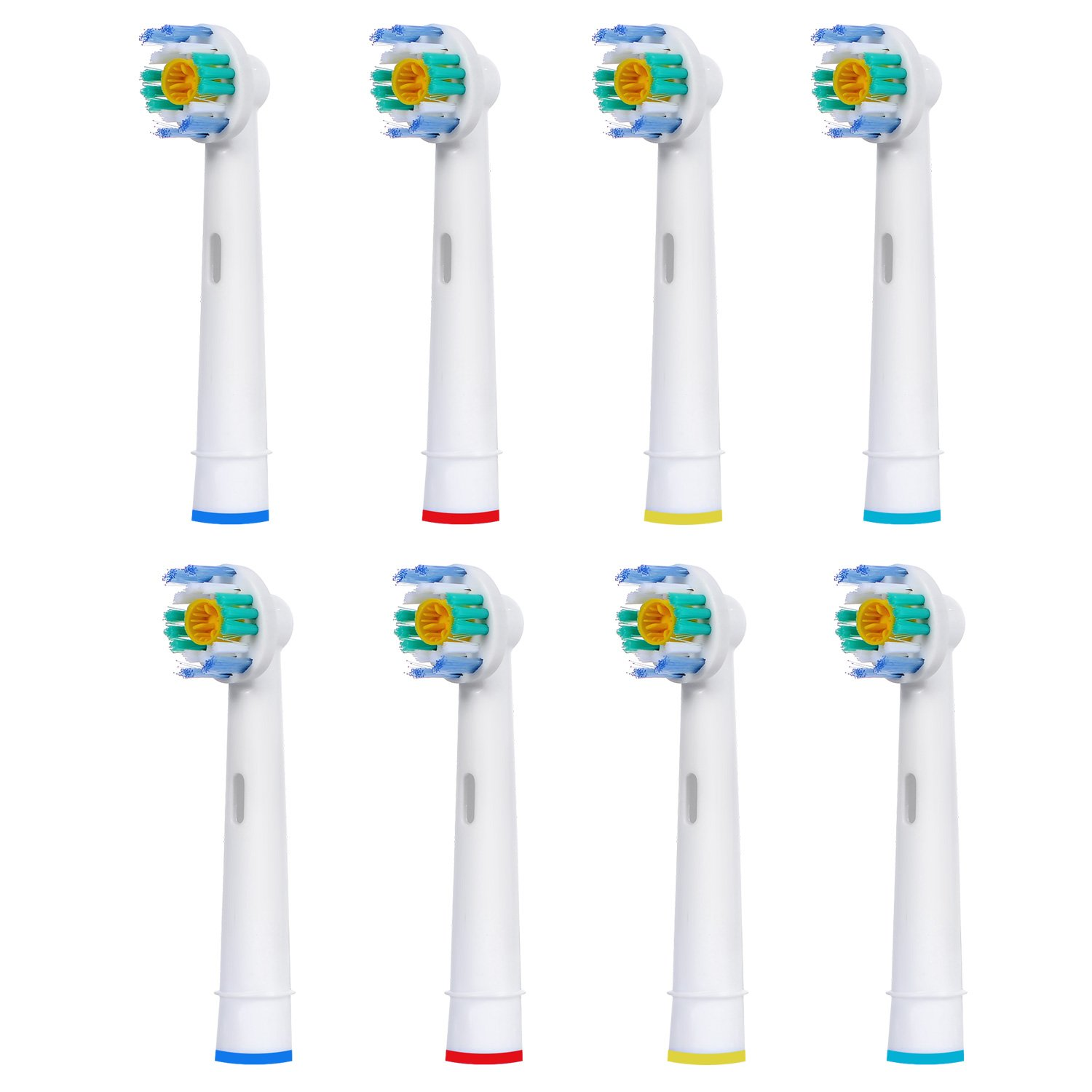 8 pcs (2x4) E-Cron® Toothbrush heads, Replacement for Oral B 3D White (EB18-4). Fully Compatible With The Following Oral B Electric ToothBrush Models: Vitality Precision Clean, Vitality Floss Action, Vitality Sensitive, Vitality Pro White, Vitality Dual Cl