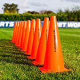 Forza Training Marker Cones [10 Pack] - Soccer Training Traffic Cone - 3 Sizes (15' Cones)