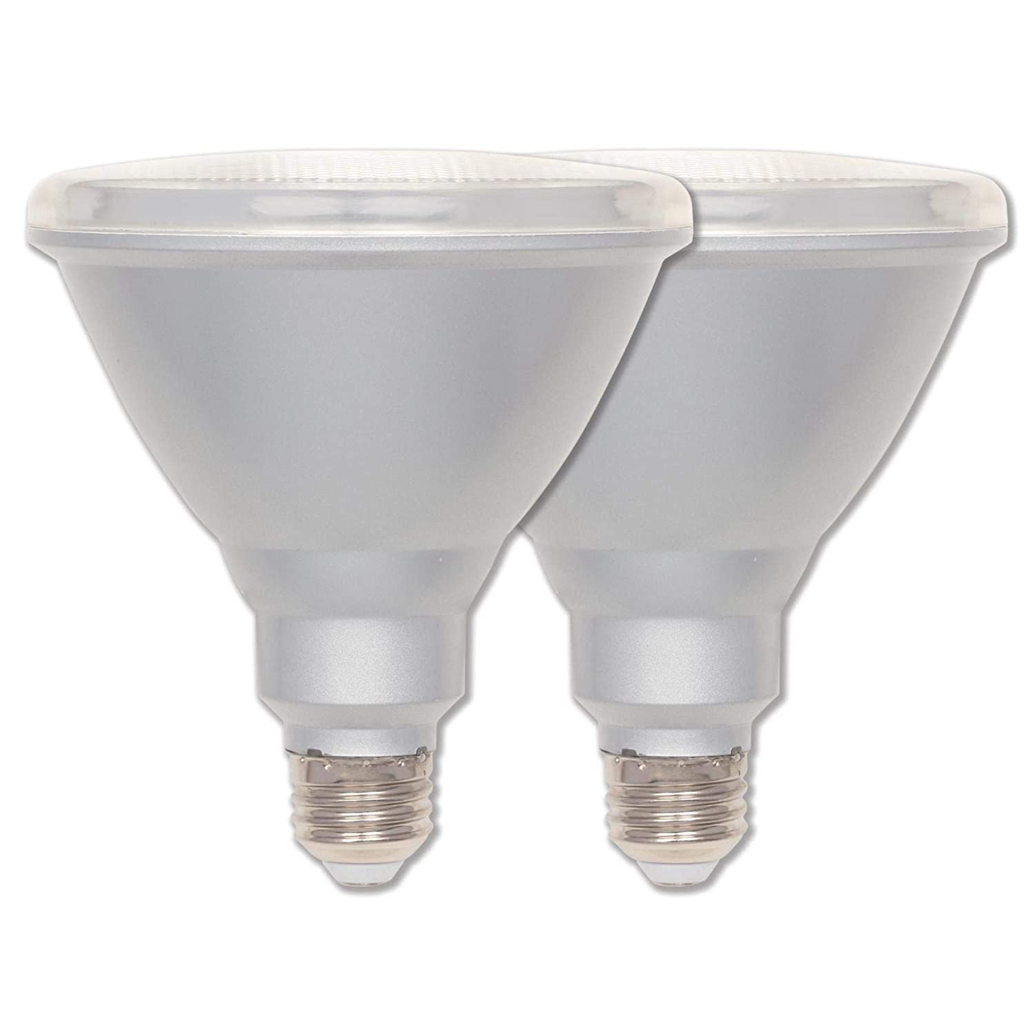 Westinghouse Lighting 5311400 15 (90-Watt Equivalent) PAR38 Flood Dimmable Bright White Indoor/Outdoor Energy Star, Medium Base, 2 Pack LED Light Bulb, Clear, 2 Piece