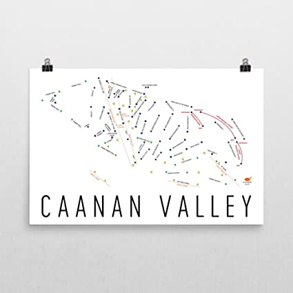 Ski Virginia Map.Amazon Com Canaan Valley Poster Canaan Valley Ski Resort Poster