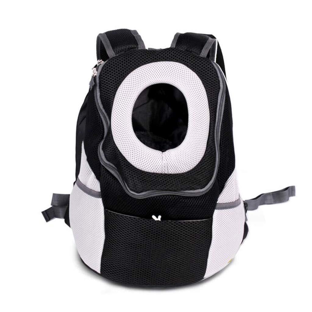 Black 311736cm Black 311736cm Front Shoulder Pet Cage Cage Backpack Cat And Dog Portable Travel Transport Car Out Of Consignment Multicolor MUMUJIN (color   Black, Size   31  17  36cm)