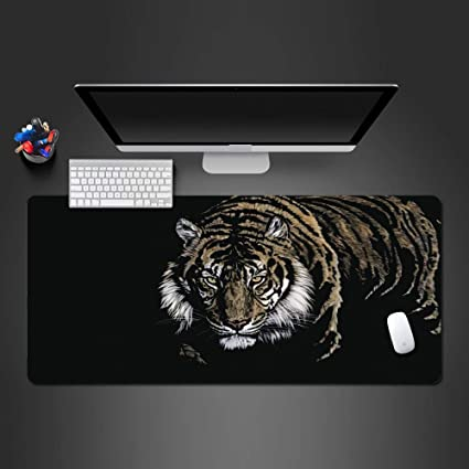 HEIFUNEI Alfombrilla de ratón Ferocious Tiger Rubber Lavable Game ...
