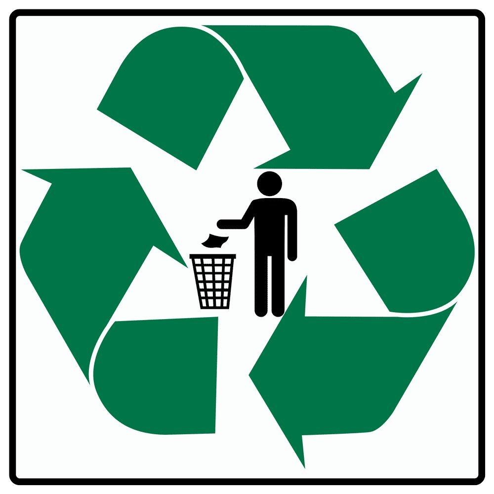 Compliancesigns vinyl trash recycle symbol label 6 x 6 in with compliancesigns vinyl trash recycle symbol label 6 x 6 in with english white buycottarizona Choice Image