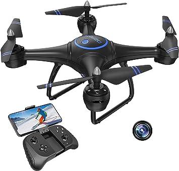 Opinión sobre AKASO Drone con Cámara 1080P HD con WiFi FPV LED Control Remoto Modo sin Cabeza Volteos 3D Estabilización de Altitud RC Quadcopter Drone para Niños Principiantes Adultos