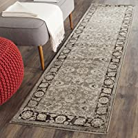 Safavieh Vintage Collection VTG576D Transitional Oriental Taupe and Black Distressed Runner (22 x 8)