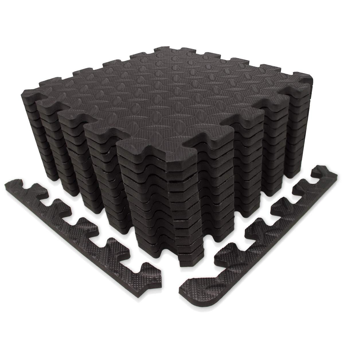好きに 9ホーン エクササイズマット/保護フロアマット パープル EVAフォームインターロックタイルとエッジピース付き ジム機器 (~12sqf)、ヨガ 12、表面保護 12 Tiles (~12sqf) パープル B07CZ2V1NN ブラック 12 Tiles (~12sqf) 12 Tiles (~12sqf)|ブラック, エスエール:59966f01 --- arianechie.dominiotemporario.com