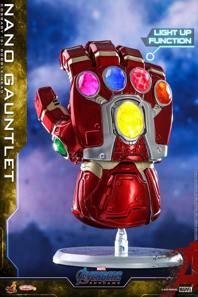 HOT TOYS Cosbaby MARVEL VINGADORES Conjunto De 3 Nano Gaunlet Infinity Gauntlet...