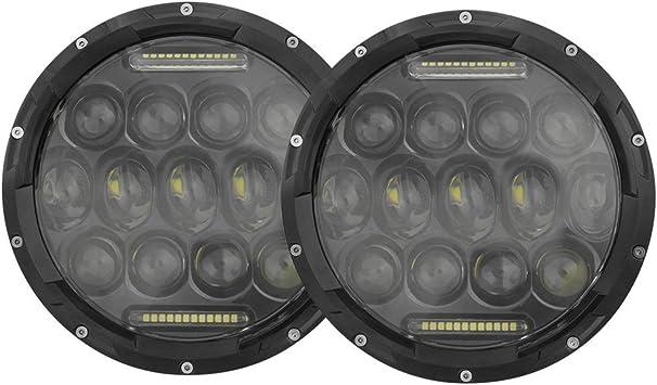 2X 7/'/' Black Headlight Retaining Ring Headlamp Bezel Fit Jeep Wrangler JK 07-18