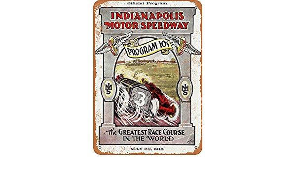 1913 Indianapolis Motor Speedway Vintage Look Reproduction Metal Sign